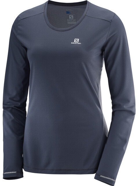 Salomon Agile Running Shirt longsleeve Women grey
